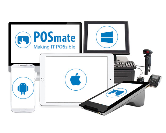 POSmate terminals for Android, Apple and Microsoft
